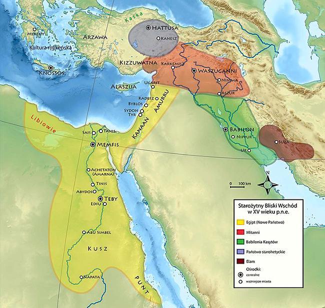 Египетская империя (ок. 1476 г. до н.э.) во времена правления Тутмоса III