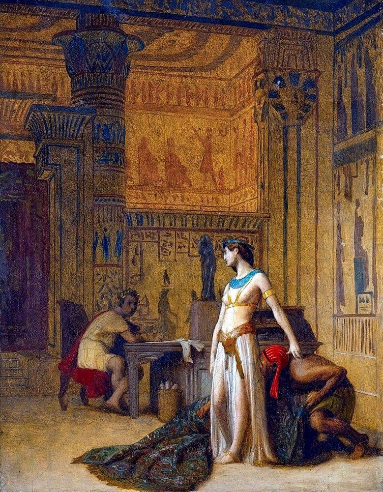 Клеопатра, появляющаяся перед Цезарем - Картина Жана-Леона Жерома