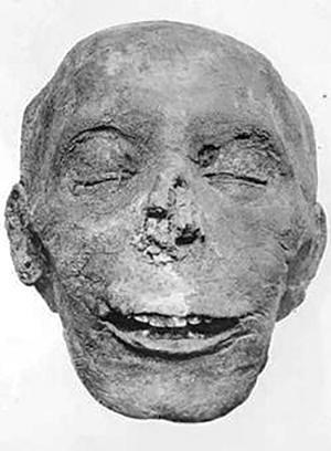 Мумифицированная голова Тутмоса III