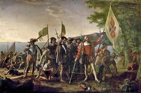 Христофор Колумб высадился в новом мире, 1492