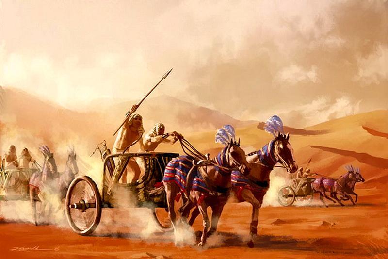 Египтяне на колесницах