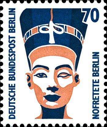 Марка с изображением Нефертити, выпущенная в 1989 году в Берлине