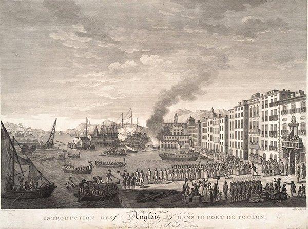 Союзники оккупируют Тулон, август 1793 г.