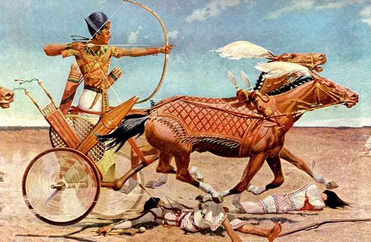 Тутмос III на колеснице