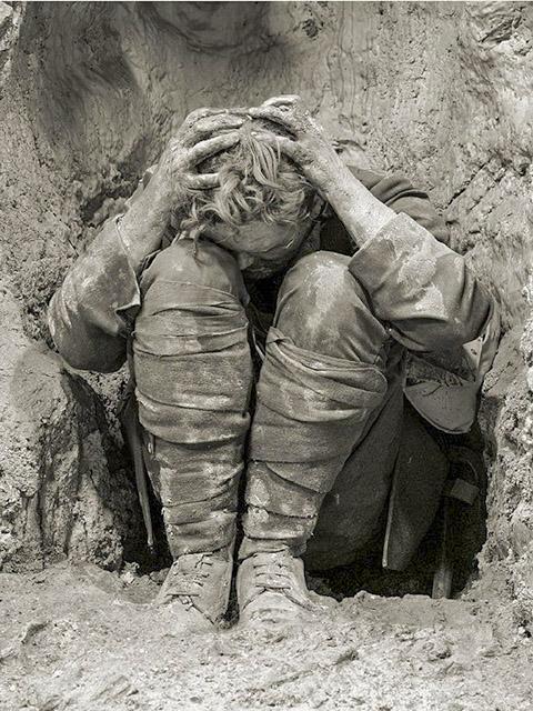Первая мировая война, контуженный солдат