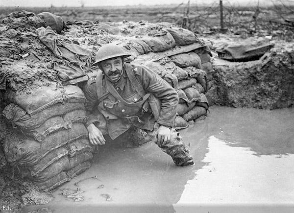 Затопленная траншея, Первая мировая война