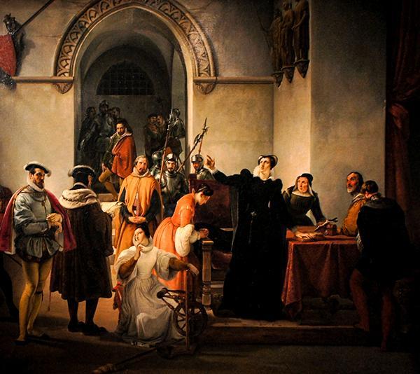 ария Стюарт доказывает свою невиновность, 1832, Лувр, Париж , Франческо Хайес