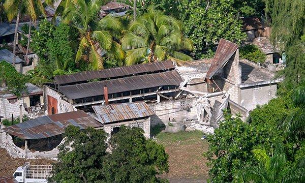 Леоган, Гаити Землетрясение на Гаити в 2010 году.