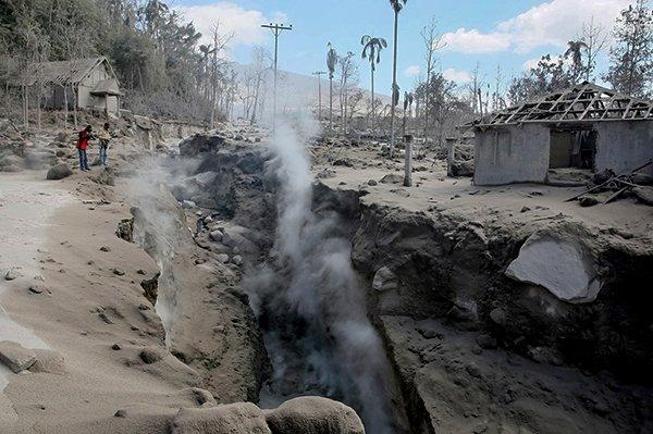последствия от извержения вулканов