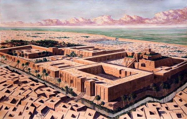Ступенчатый храм (зиккурат) в городе Ур. Месопотамская цивилизация. 10 главных достижений.
