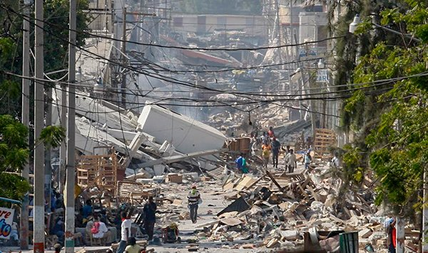 Землетрясение на Гаити в 2010 году.