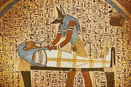 Анубис посещает мумию Осириса