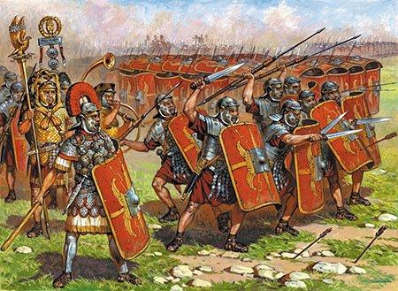 Древнеримские легионеры солдаты