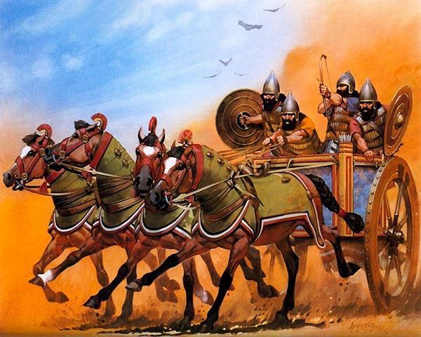 Касситы на колеснице