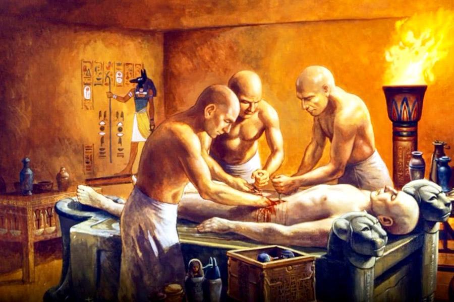 мумификация, удаление органов