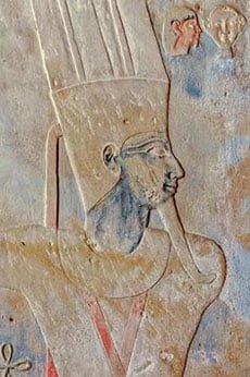 бог Амон, фреска