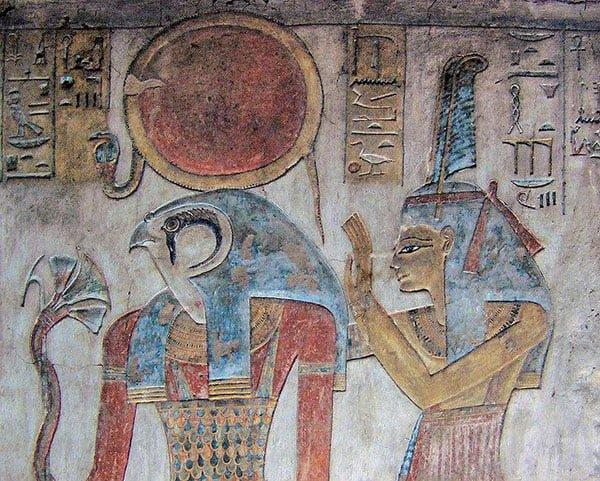 бог Амон-Ра, фреска