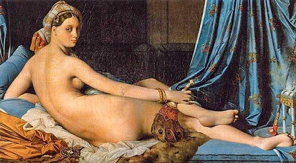 Большая Одалиска, Жан-Огюст-Доминик Энгр, 1814г. Лувр