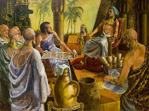 Фараон и жрецы Боги Египта