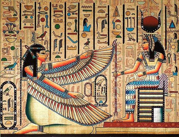 Маат с крыльями, богиня справедливости и истины Мифы Древнего Египта