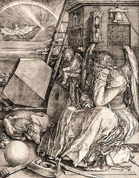 Меленколия I (1514) Эпоха Возрождения