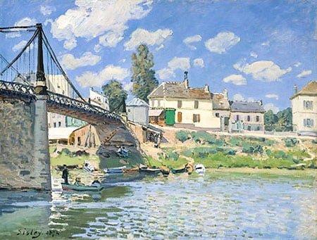 Мост в Вильнёв-ла-Гарен импрессионизм