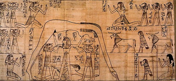Описание мифа о сотворении мира в Древнем Египте