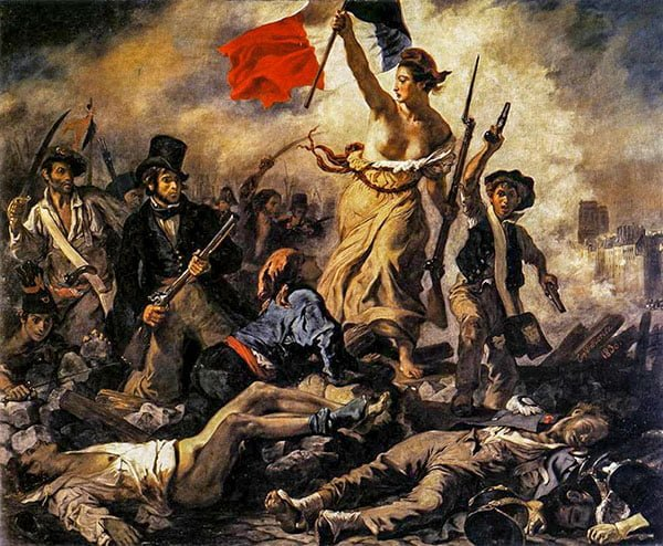 Свобода, ведущая народ, Эжен Делакруа, 1830г.