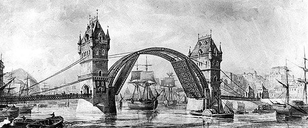 Тауэрский мост в Лондоне, 1894г.