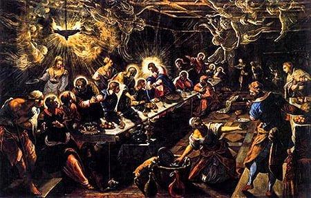 Тайная вечеря (1594) эпоха возраждения