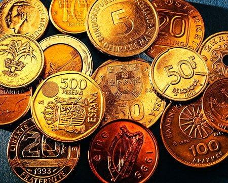 золотые монеты золото