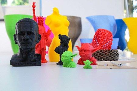 Фигурки, созданные на 3D принтере 3D печать