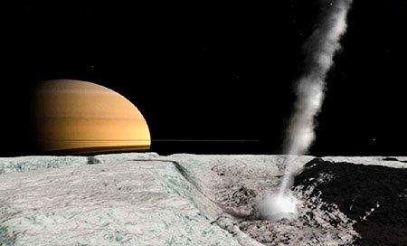 гейзеры Энцелада, спутника Сатурн