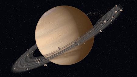 Кольца Сатурна, фото из космоса