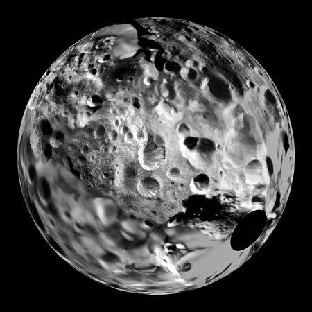 Луна Фиби, спутник Сатурна