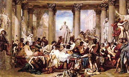 Праздник Сатурналии в Древнем Риме
