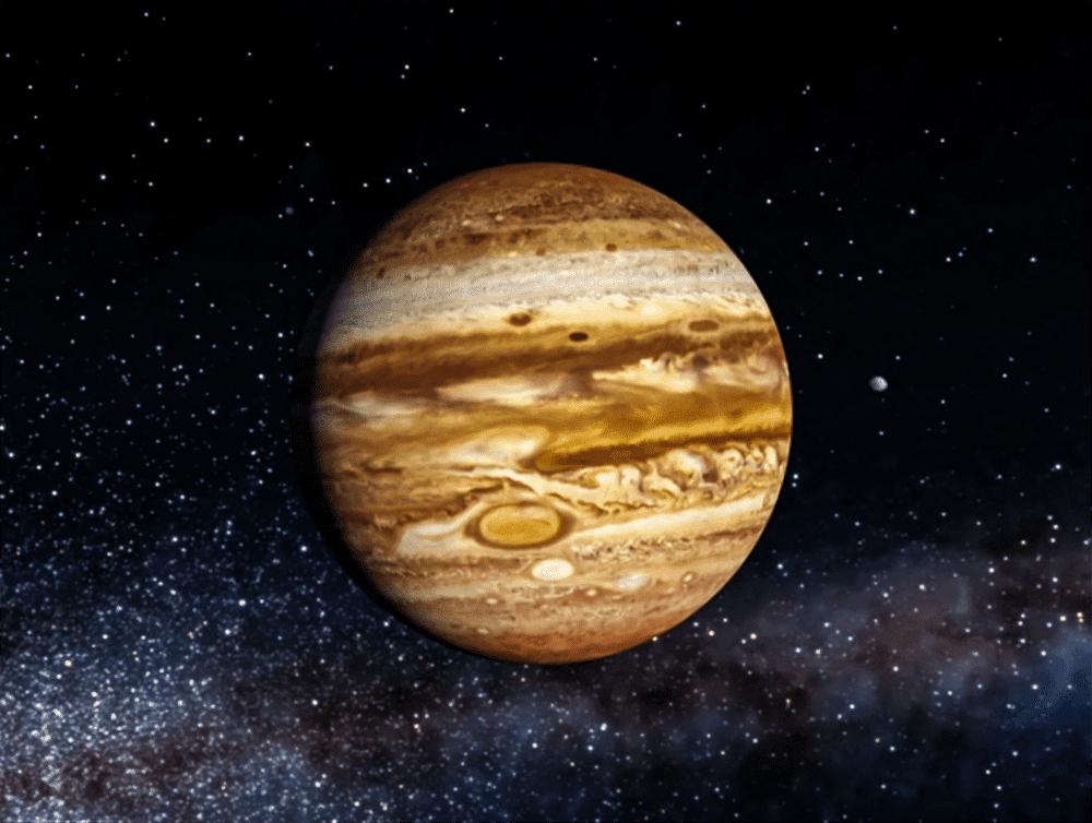 Снимок Юпитера, сделанный зондом Юнона