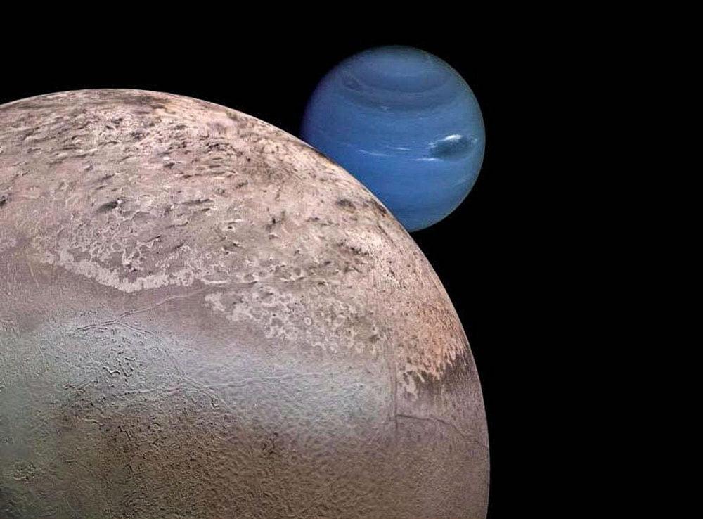 Тритон, спутник планеты Нептун
