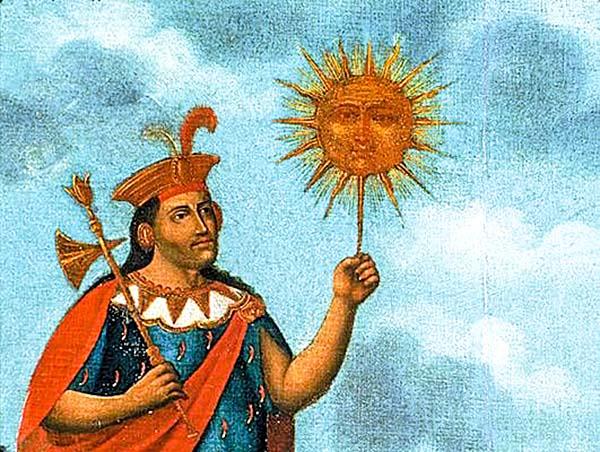 Изображение Манко Капака - которого считают основателем цивилизации инков инки