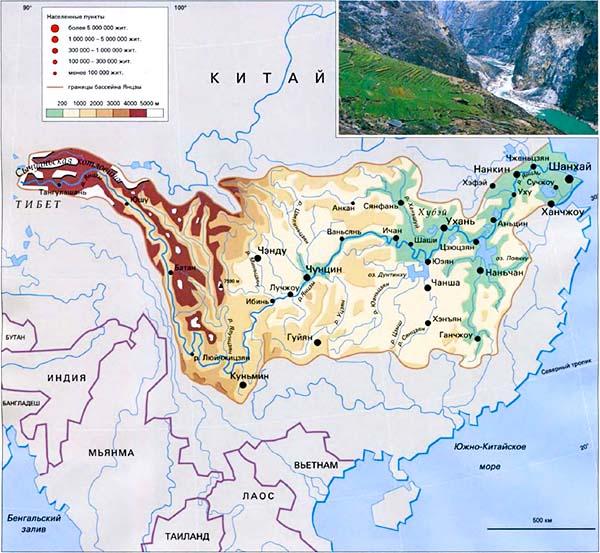 Карта Янцзы