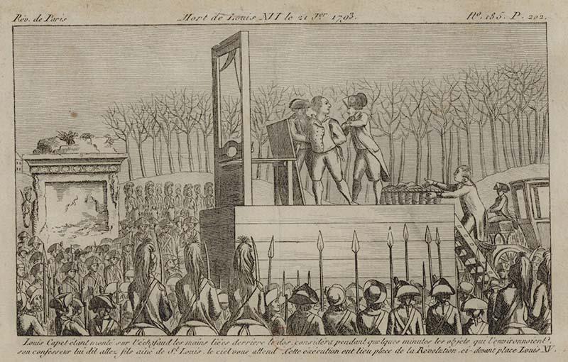 Казнь Короля Франции Людовика XVI французская революция