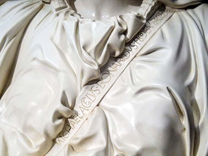 Подпись Микеланджело на Пьете