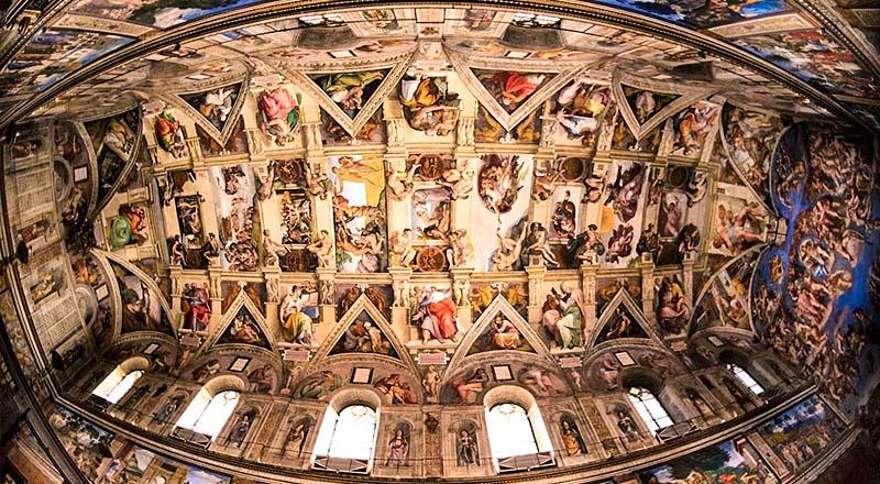 Потолок Сикстинской капеллы - Микеланджело