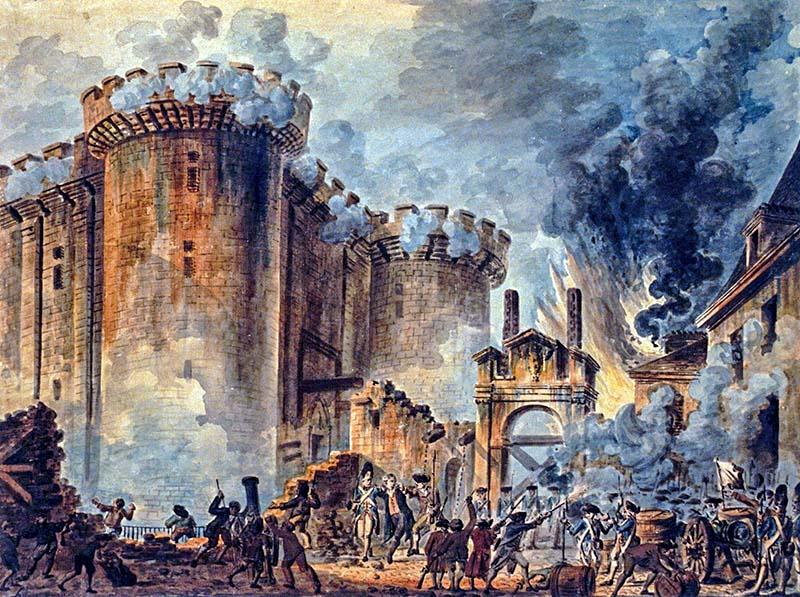 Штурм Бастилии 14 июля 1789 года - Картина Жана-Пьера Уэля французская революция