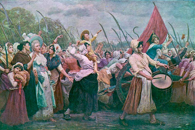 Женский марш в Версале - крупное событие Французской революции, вызванное подорожанием хлеба Людовик XVI