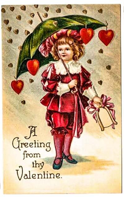 Валентинка на День св. Валентина, 1910 год