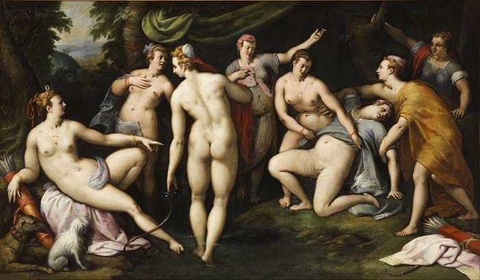 Диана и Каллисто (1580) - Джиллис Койне Артемида