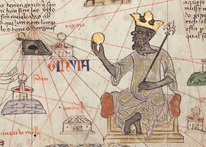 Крупный план Мансы Мусы в изображении