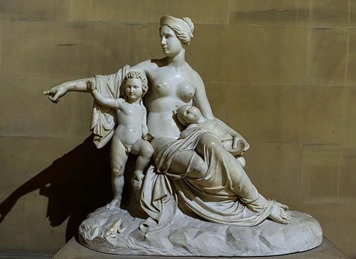 Лето с младенцами Аполлоном и Артемидой (1824) - Франческо Поцци