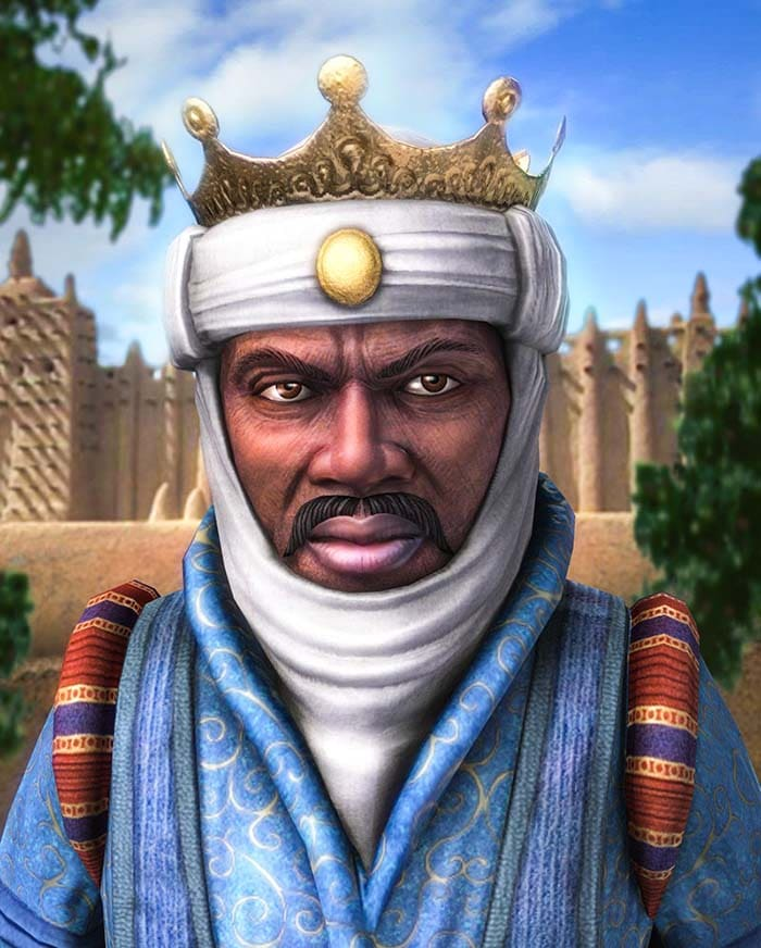 Манса Муса изображен в популярной компьютерной игре Civilization IV